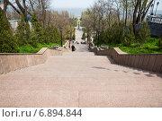 Купить «Каменная лестница в Таганроге», фото № 6894844, снято 19 апреля 2014 г. (c) Борис Панасюк / Фотобанк Лори
