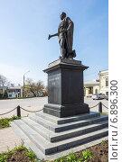 Купить «Боковой ракурс памятника Александру I в Таганроге», фото № 6896300, снято 19 апреля 2014 г. (c) Борис Панасюк / Фотобанк Лори
