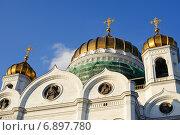 Купить «Храм Христа Спасителя на закате. Москва, Россия», фото № 6897780, снято 7 сентября 2014 г. (c) Татьяна Кахилл / Фотобанк Лори