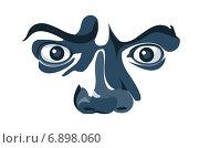 Удивленные глаза на белом фоне. Стоковая иллюстрация, иллюстратор Илья Пермяков / Фотобанк Лори
