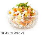 Салат с овощами и красной рыбой. Стоковое фото, фотограф Вадим Карпусь / Фотобанк Лори