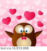 Купить «Открытка на День Святого Валентина», иллюстрация № 6913008 (c) Евгения Малахова / Фотобанк Лори