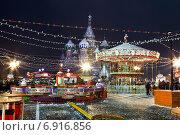 Купить «Ярмарка на Красной площади в Москве в новогодние праздники», фото № 6916856, снято 21 января 2015 г. (c) Наталья Волкова / Фотобанк Лори