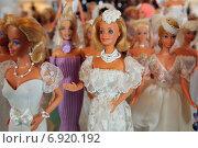 Купить «Flensburg, Germany, Barbie dolls with clothes selbstgenaehten», фото № 6920192, снято 3 февраля 2014 г. (c) Caro Photoagency / Фотобанк Лори