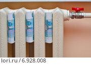 Купить «Деньги и батарея отопления», фото № 6928008, снято 25 января 2015 г. (c) Цибаев Алексей / Фотобанк Лори