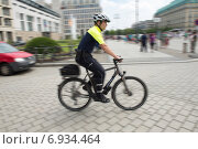 Berlin, Germany, Berlin police presents her new bike season (2014 год). Редакционное фото, агентство Caro Photoagency / Фотобанк Лори
