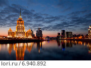 Купить «Ночная Москва», фото № 6940892, снято 22 ноября 2014 г. (c) Наталья Волкова / Фотобанк Лори