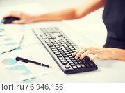 Купить «woman hands typing on keyboard», фото № 6946156, снято 3 апреля 2013 г. (c) Syda Productions / Фотобанк Лори