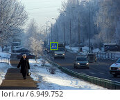 Купить «Алтайская улица зимой, район Гольяново, Москва», эксклюзивное фото № 6949752, снято 22 января 2015 г. (c) lana1501 / Фотобанк Лори