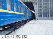 Купить «Поезд на железнодорожной станции Львов», фото № 6952852, снято 15 сентября 2019 г. (c) Вдовиченко Денис / Фотобанк Лори