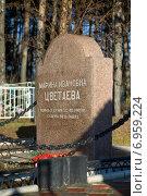 Купить «Татарстан, Елабуга, могила Марины Цветаевой», фото № 6959224, снято 7 ноября 2010 г. (c) Дмитрий Жуков / Фотобанк Лори