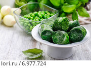 Купить «Bowl of frozen spinach. Healthy food», фото № 6977724, снято 22 апреля 2019 г. (c) BE&W Photo / Фотобанк Лори