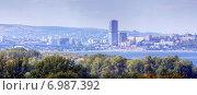 Купить «Вид на город Саратов через Волгу», эксклюзивное фото № 6987392, снято 16 сентября 2014 г. (c) Сергей Лаврентьев / Фотобанк Лори