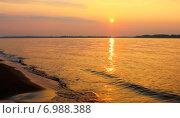 Волжский закат. Стоковое фото, фотограф Винокуров Александр / Фотобанк Лори
