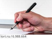 Купить «Подписание договора», фото № 6988664, снято 17 октября 2014 г. (c) Королевский Иван / Фотобанк Лори