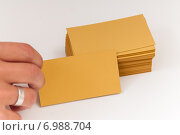 Купить «Дизайнерская бумага для визиток - бронза», фото № 6988704, снято 17 октября 2014 г. (c) Королевский Иван / Фотобанк Лори