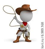 Купить «3d человек ковбой», иллюстрация № 6989168 (c) Anatoly Maslennikov / Фотобанк Лори