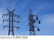 Воздушные линии электропередачи. Стоковое фото, фотограф М. Гимадиев / Фотобанк Лори