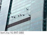 Работа на небоскрёбе (2014 год). Стоковое фото, фотограф Корнеев Дмитрий / Фотобанк Лори
