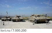 Танки Merkava в военном музее, Израиль (2012 год). Редакционное фото, фотограф Наталья Большакова / Фотобанк Лори