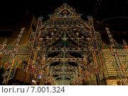 Luminarie - фестиваль света в Кобе (преф. Хиого, Япония) проводится ежегодно в память о жертвах землетрясения 1995 года (2014 год). Редакционное фото, фотограф Алексей Копытько / Фотобанк Лори