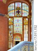 Купить «Stained-glass window in Interior», фото № 7011152, снято 13 сентября 2014 г. (c) Яков Филимонов / Фотобанк Лори