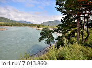 Купить «Вид на реку Катунь, Алтай», фото № 7013860, снято 9 августа 2014 г. (c) Александр Карпенко / Фотобанк Лори
