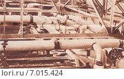 """Купить «Коммуникации вакуум-аппаратов на Лохвицком сахаропесочном заводе. Фото из газеты """"Строим"""", 23 мая 1930 года», фото № 7015424, снято 17 октября 2019 г. (c) Макаров Алексей / Фотобанк Лори"""