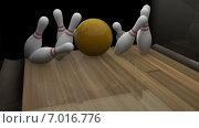3d рендер - боулинг. Стоковая анимация, видеограф Булат Булатов / Фотобанк Лори