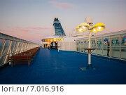 На борту финского парома, выполняющего рейс Хельсинки-Стокгольм (2010 год). Редакционное фото, фотограф Roman Vukolov / Фотобанк Лори