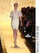 Купить «NEW YORK, NY - FEBRUARY 14: A model walks the runway at Herve Leger by Max Azria fashion show during Mercedes-Benz Fashion Week Fall 2015 at Lincoln Center on February 14, 2015 in New York City», фото № 7018164, снято 14 февраля 2015 г. (c) Anton Oparin / Фотобанк Лори