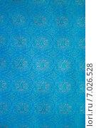 Купить «Текстура синей ткани», фото № 7026528, снято 24 марта 2012 г. (c) Сурикова Ирина / Фотобанк Лори