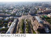 Кудринская площадь с высоты птичего полета, Москва (2012 год). Редакционное фото, фотограф Георгий Султанов / Фотобанк Лори