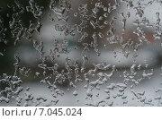 Зимний дождь на окне. Стоковое фото, фотограф Владимир Матвеев / Фотобанк Лори
