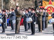 Купить «Военный оркестр на параде в День Победы, Тюмень», фото № 7045760, снято 9 мая 2009 г. (c) Сергей Буторин / Фотобанк Лори