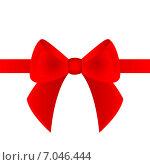 Купить «Красный бант с лентой», иллюстрация № 7046444 (c) Мастепанов Павел / Фотобанк Лори