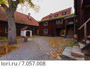 Старинные постройки в парке Скансен. Стокгольм, Швеция. (2010 год). Стоковое фото, фотограф Roman Vukolov / Фотобанк Лори
