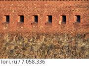 Купить «Стена старого немецкого форта. Калининград, Россия», фото № 7058336, снято 21 января 2014 г. (c) Сергей Трофименко / Фотобанк Лори