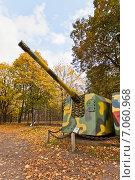 Купить «Советская 152 мм береговая артиллерийская установка МУ-2 в Музее Войска Польского в Варшаве, Польша», фото № 7060968, снято 20 октября 2014 г. (c) Иван Марчук / Фотобанк Лори