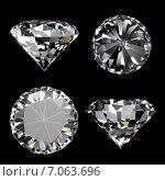 Купить «Блестящие бриллианты на черном фоне», иллюстрация № 7063696 (c) Сергей Куров / Фотобанк Лори
