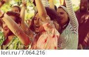 Купить «In high quality 4k format excited music fan at festival », видеоролик № 7064216, снято 22 августа 2018 г. (c) Wavebreak Media / Фотобанк Лори
