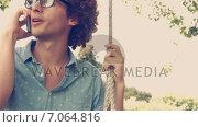 Купить «In high quality format young man in swing», видеоролик № 7064816, снято 17 февраля 2019 г. (c) Wavebreak Media / Фотобанк Лори