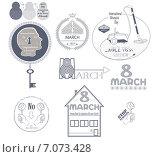 Купить «Иконки на тему праздника 8 марта», иллюстрация № 7073428 (c) Дмитрий Никитин / Фотобанк Лори