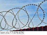 Купить «Колючая проволока», фото № 7079676, снято 21 января 2014 г. (c) Сергей Трофименко / Фотобанк Лори