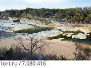 Купить «Река Pedernales ранней весной. Государственный парк штата Техас, США», фото № 7080416, снято 18 марта 2013 г. (c) Ирина Кожемякина / Фотобанк Лори
