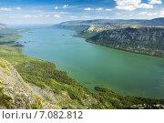 Купить «Вид со скалы на озеро Сейдозеро», фото № 7082812, снято 22 января 2020 г. (c) Иван Аборнев / Фотобанк Лори