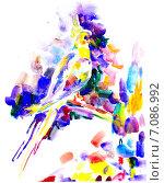 Акварельный попугай. Стоковая иллюстрация, иллюстратор Diana Borisova / Фотобанк Лори