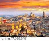 Купить «Picturesque dawn view of Toledo», фото № 7090640, снято 23 августа 2013 г. (c) Яков Филимонов / Фотобанк Лори