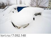 Купить «Автомобили занесенные снегом», фото № 7092148, снято 24 февраля 2015 г. (c) Алексей Маринченко / Фотобанк Лори