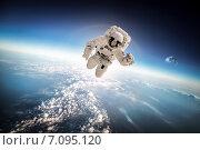 Купить «Astronaut in outer space», фото № 7095120, снято 9 февраля 2013 г. (c) Андрей Армягов / Фотобанк Лори